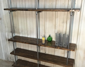 Industrial Living Room Shelf