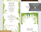 GARDEN - Customizable Seal and Send Wedding Invitations (Woodland, Nature, Leaves)