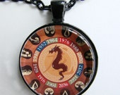 CHINESE YEAR of the DRAGON Necklace -- Chinese Zodiac for him and her, Chinese New Year, Astrological birthday present, Zodiac art