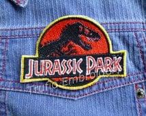 Jurassic Park Logo iron-on patch