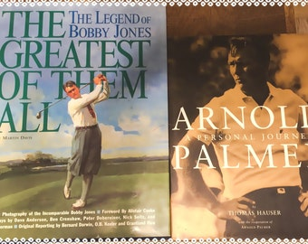 The  Greatest Of Them ALL *Bobby Jones* & *Arnold PALMER* Two GOLF Books - Both In Excellent Condition - Gift Giving Vintage!