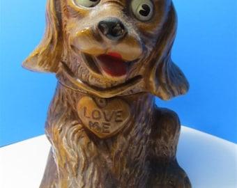 Rare Vintage Maurice of California Ceramic Cookie Jar Collectible Animal Dog Spaniel