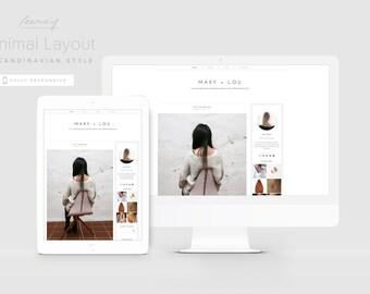 Minimal Blogger Template, Modern Blogger Design, Scandinavian Style, Responsive Blog Template, Clean Blogger Template, Lifestyle Blog Theme