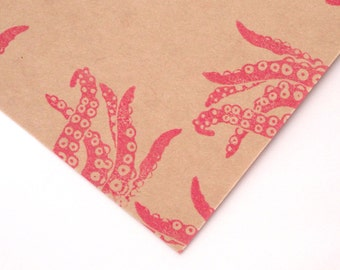 Octopus rubber stamp, Octopus arms, Unique stationery, Gift wrapping idea, Joke gift idea, Teen boys, Japanese Kawaii, Geek gift idea, Craft