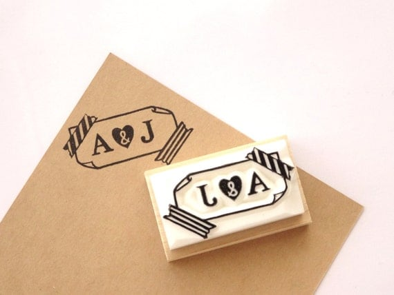 initial rubber stamp custom stamp diy wedding washi tape stamp