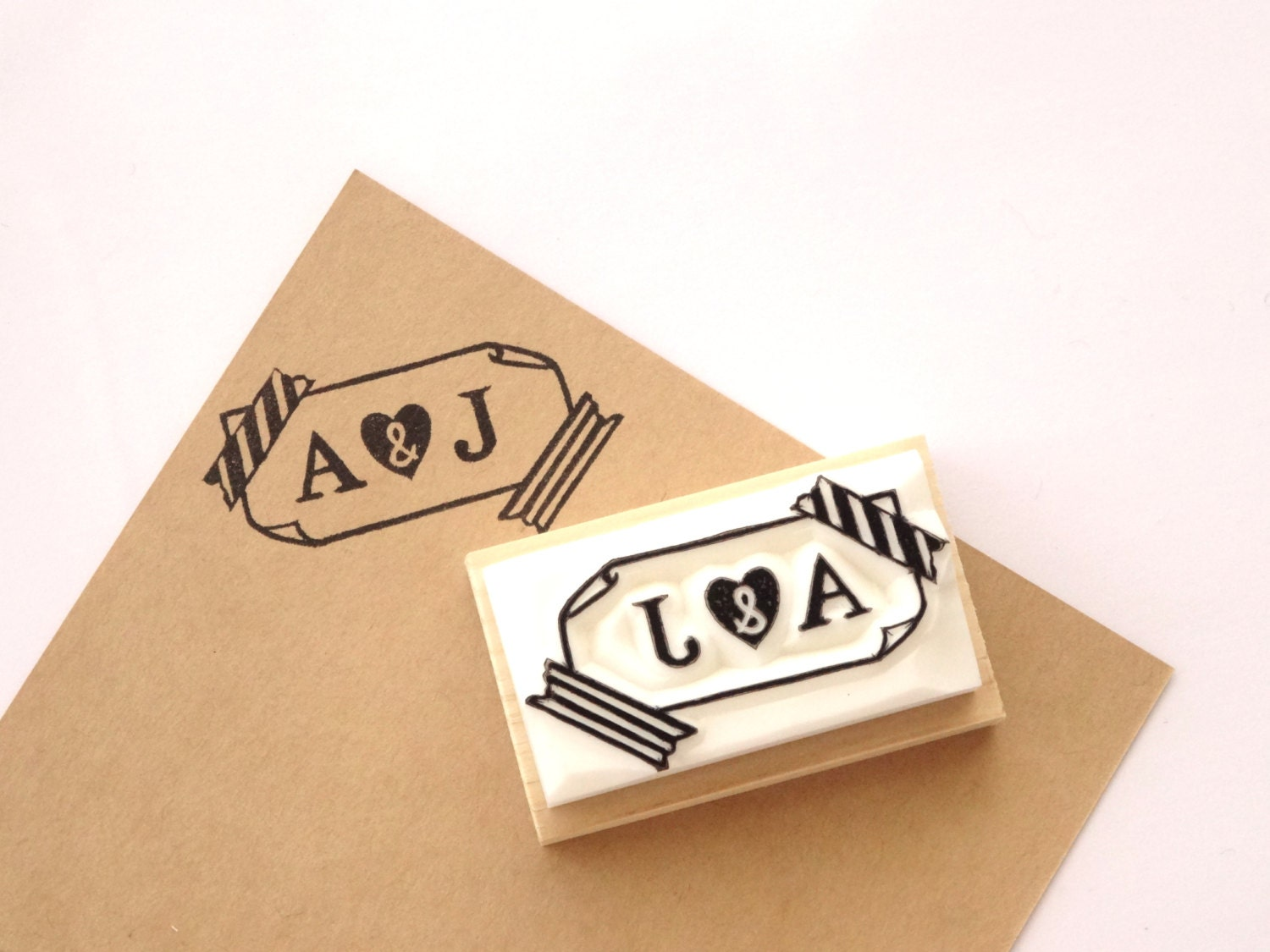 Personalized Rubber Stamps For Wedding Invitations: Initial Rubber Stamp Custom Stamp Wedding Invitation Stamp