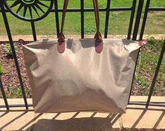 Khaki Personalized Nylon Weekender, Carry-On, Gym Bag, Tote