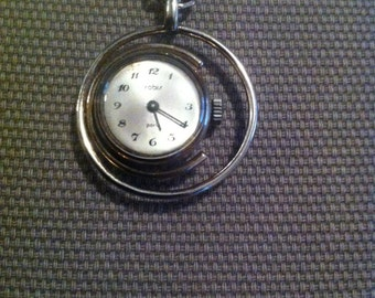 Watch jewel pendant - Brand Robiś Paris - movement mechanics - sterling silver