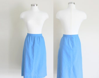 1980s Skirt | Royal Blue Skirt | Midi Skirt | A Line Skirt | Medium