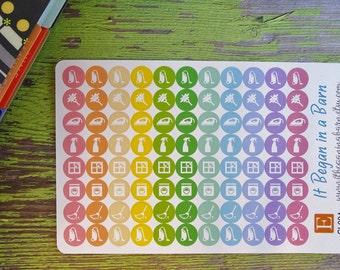 Cleaning Planner Stickers | Erin Condren | Happy Planner | Dot Planner Stickers | Cleaning Sampler Stickers | Daily Planner Stickers | CL004