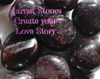 Tumbled GARNET Stones for strengthening & protecting the physical body