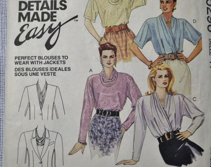 McCalls Sewing Pattern 5296 Misses Blouses Size 14 Fashion Clothing DIY  PanchosPorch
