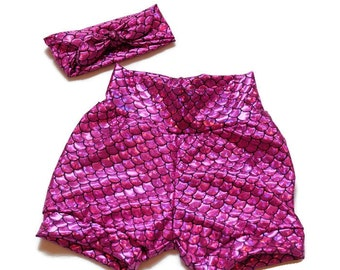 Ariel Mermaid Bubble shorts//girls//baby//toddler//costume//pink//shorts only