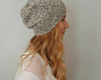 Knit Hat - Brighton Hat - Brown Tweed