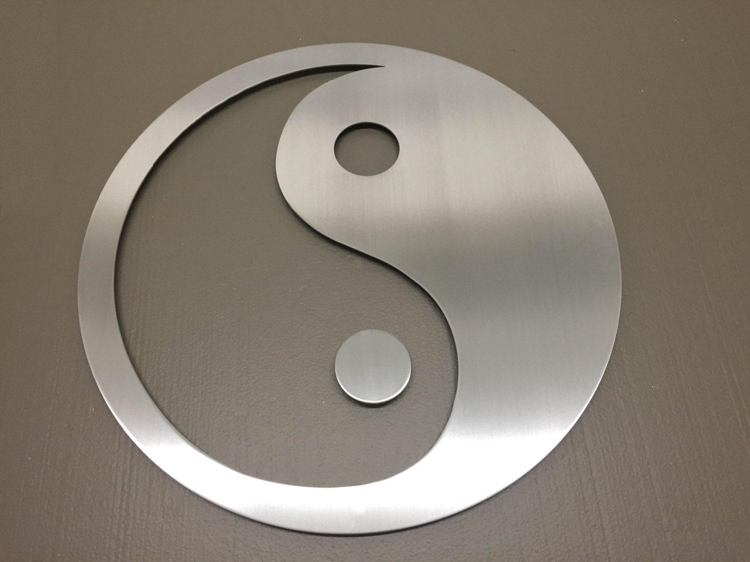 Yin yang metal wall art wall art metal wall decor metal for Decoration murale yin yang
