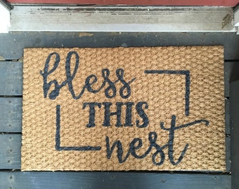 Bless this Nest Welcome Mat