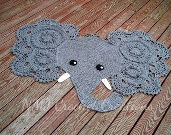 Crochet Elephant Rug Free Pattern : Crochet Elephant Rug by NMJCrochetCreations on Etsy