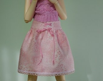 Pink cotton skirt for Minfiee, Narae, Slim MSD