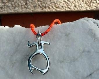 Piranha pendant in silver