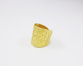 GoldFilled Ring, Statment Ring, Goldfilled Band Ring, Wide Ring, Wide Band, Goldfilled Cuff Ring, Adjustable Ring, Tube Ring, Women Ring