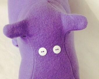 Lavender Hippo Plush Pillow