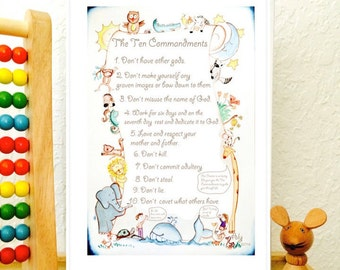 The Ten Commandments Printable