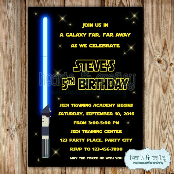 Star Wars Invitation Star Wars Birthday Invitation Star Wars