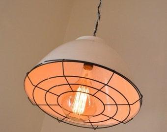 Re-imagined Vintage Industrial/Gymnasium Pendant Light - Lighting