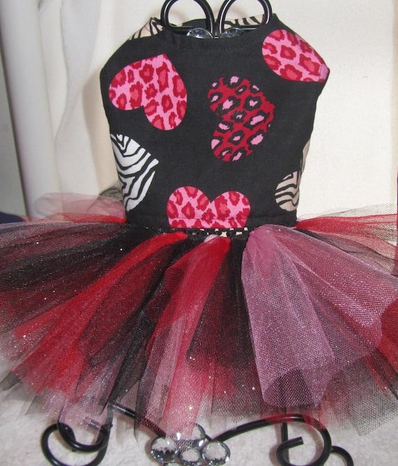 Custom Boutique Valentines Heart Dog or Cat Dress Xxxxs, Xxxs,Xxs,Xs,small or medium