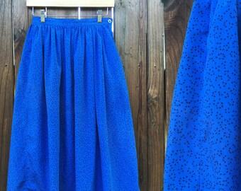50% off sale! Vintage Flowy Skirt - Midi Skirt - Highwaist Skirt - Size Small Medium - Pleated Skirt - School Girl Skirt - Festival Clothing