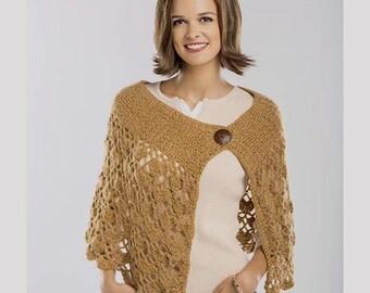 Crochet Capelet PATTERN, crochet lace capelet pattern, sumer crochet capelet pattern, crochet capelet PDF pattern, sizes XS, S, M, L