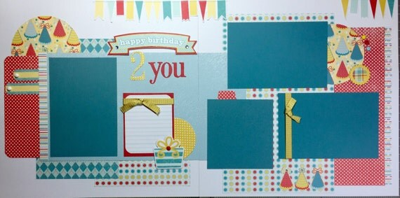 Happy birthday 2 You - 12x12 Premade Scrapbook Page Set or Kit