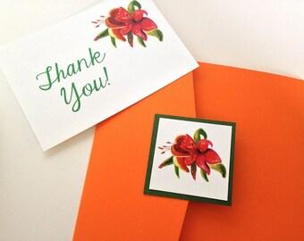 "Beach Wedding Pocketfold Invitation ""Tropical Liles"" Accommodation RSVP Reception Card - Destination Wedding Invitation - Watercolor Invite"