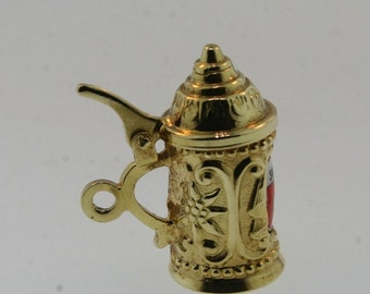 18k Yellow Gold Switzerland Beer Stein
