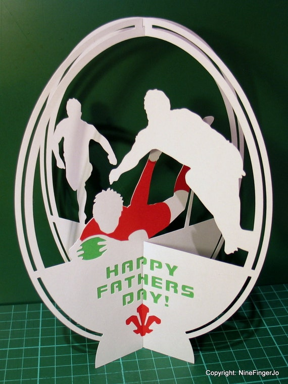 Rugby Birthday Card Pop Up Rugby Gifts Wales Rugby Welsh – Rugby Birthday Cards