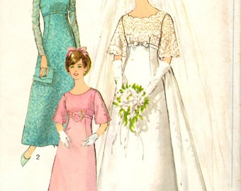 Simplicity 6825 Wedding Gown and Bridesmaid Dresses Sewing Pattern 34 Bust