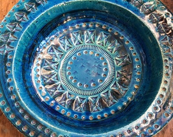 Bitossi Rimini Blue bowl by Aldo Londi 1960