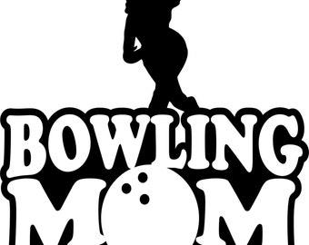 Bowling Mom Hoodie/ Bowling Mom Sweatshirt/ Bowling Mom Clothing/ Bowling Mom Gift/ Bowling Mom/ Girl Bowler Bowling Mom Hoodie Sweatshirt