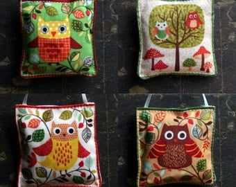 Cute Owl Lavender Bags. Dried Organic French Provence Lavender for Clothes / Wardrobe / Drawer freshener. Moth repellent and sleep aid.