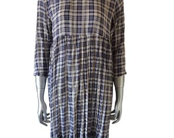 Vintage Tout by Milly L. Stockfish Plaid Dress
