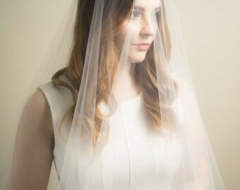 sheer drop illusion wedding veil blusher veil bridal veil ivory diamond white