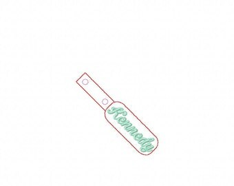 Kennedy - Name -  In The Hoop - Snap/Rivet Key Fob - DIGITAL EMBROIDERY DESIGN