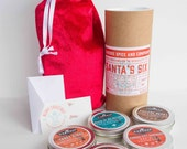 BBQ Christmas Gift Kit   Dry Rubs & Seasoning Set   Boyfriend Husband Gift - Santa's Six