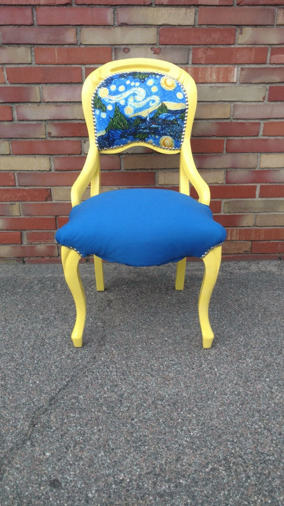 Van Gogh Starry Night Accent Chair