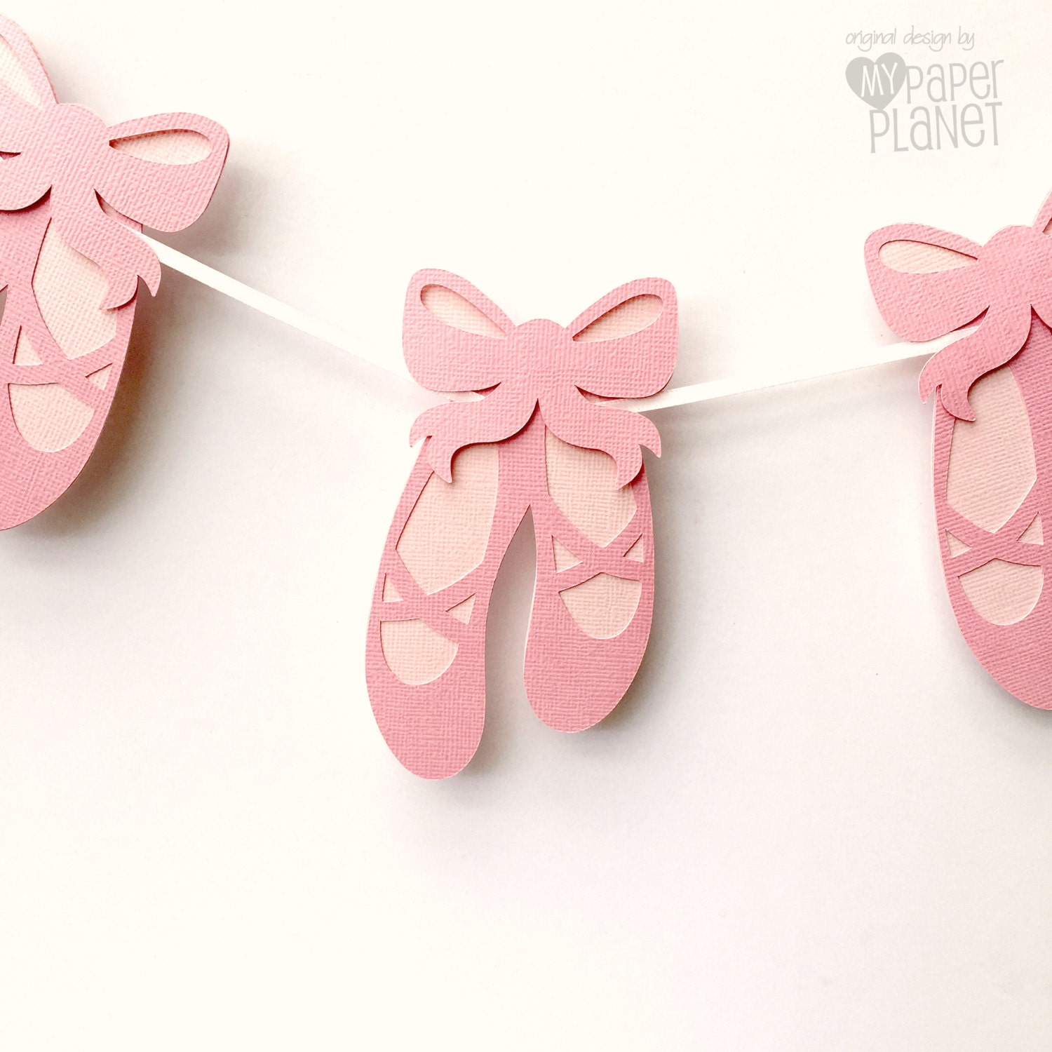 Ballet shoes party banner baby girl birthday party bunting for Ballet shoes decoration