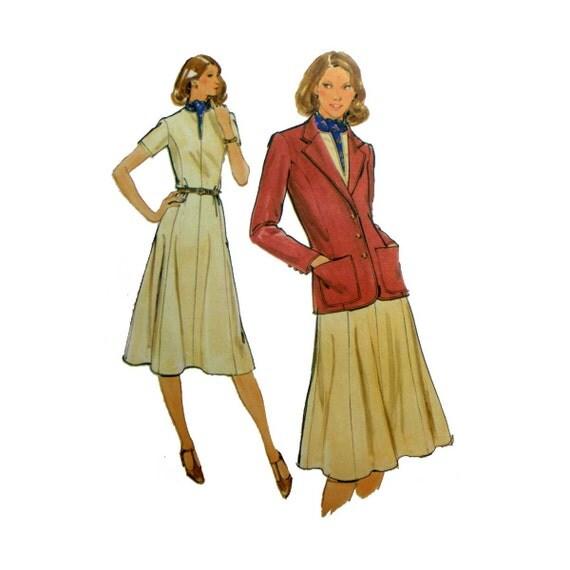 Galerry flared jacket dress