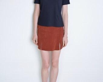90' black mock neck, short sleeves turtleneck blouse, grunge top, beatnik, minimalist blouse