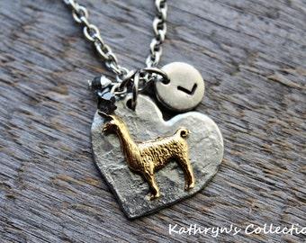 Llama Necklace, Llama Jewelry, Llama Gift, Llama Lover, On The Farm, Love Llamas, Llama Mama
