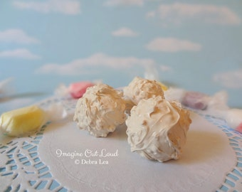 FAUX Fake  White Chocolate Macadamia Nut Crunch  REALISTIC Kitchen Decor Display