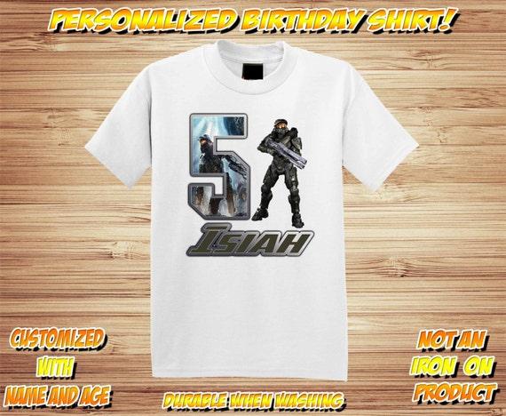 HALO AGE Personalized Birthday Shirt ~ HALO Birthday